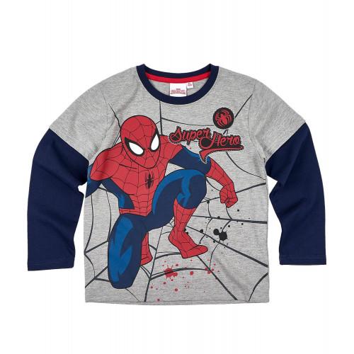 3807ed5086b30 Chlapčenské tričko Spiderman s dlhým rukávom šedé | Oblečenie pre deti