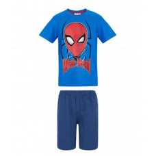 Chlapčenské letné pyžamo Spiderman modré