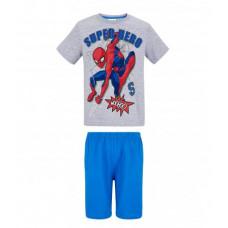 Chlapčenské letné pyžamo Spiderman šedé