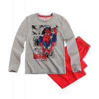 Pyžamo Spiderman s dlhým rukávom šedo-červené