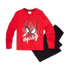 Pyžamo Spiderman s dlhým rukávom červeno-čierne