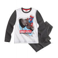 Pyžamo Spiderman s dlhým rukávom biele
