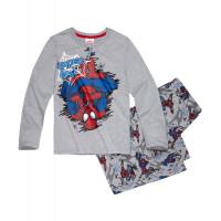 Pyžamo Spiderman s dlhým rukávom šedé1