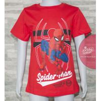 Chlapčenské letné tričko Spiderman červené