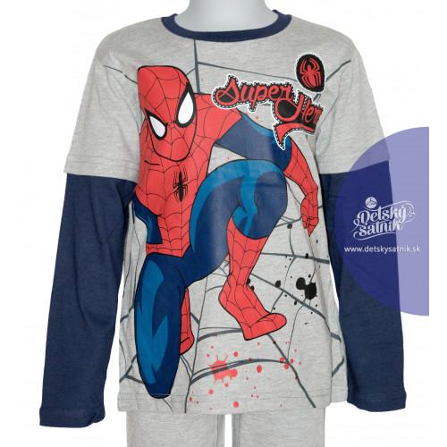 e7b19d091517 ... Chlapčenské tričko Spiderman s dlhým rukávom šedé