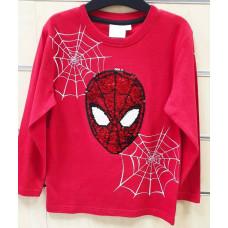 Chlapčenské tričko Spiderman s flitrami dlhé 98,104