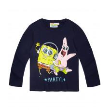 Chlapčenské tričko Spongebob s dlhým rukávom tmavo modré