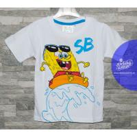 Chlapčenské tričko Spongebob biele letné 2-6 rokov