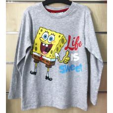 Chlapčenské tričko Spongebob šedé s dlhým rukávom 2-6 rokov