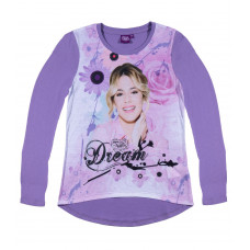 Dievčenské tričko Disney Violetta fialové dlhý rukáv