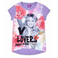 Dievčenské krátke tričko Disney Violetta fialové