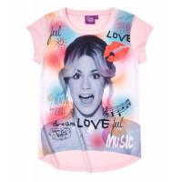 Dievčenské krátke tričko Disney Violetta ružové