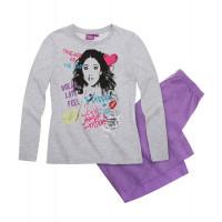 Pyžamo Disney Violetta s dlhým rukávom šedá-fialová