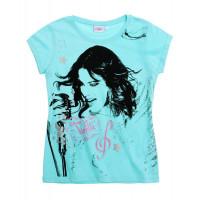 Dievčenské tričko Disney Violetta modro-zelené