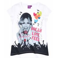 Dievčenské krátke tričko Disney Violetta biele
